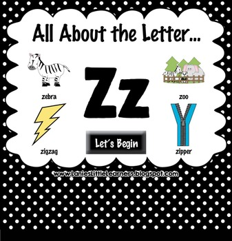 All About the Letter Zz {Letter of the Week SMARTboard Act