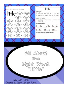 All About the Sight Word LITTLE