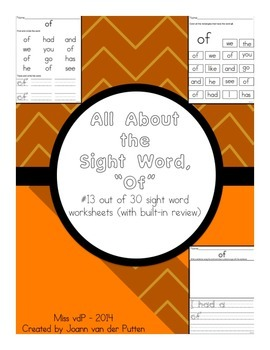 All About the Sight Word OF