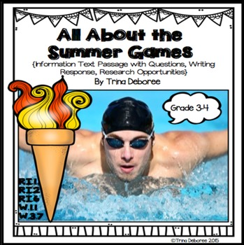All About the Summer Games Informational Text Passages