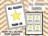 All Access Badges - Hollywood Theme