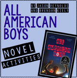 All-American Boys Novel Activities
