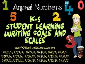 All Animal Number K-5 Writing Learning Goals and Scales -