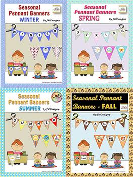 Bunting - Pennants - Banners - Seasons BUNDLE