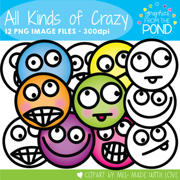 All Kinds of Crazy - Clipart for Teaching Resources
