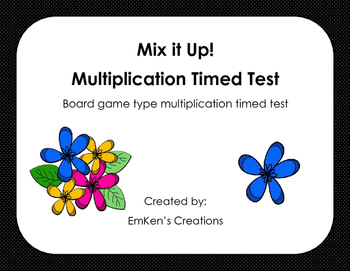 All Mixed Up! Multiplication Time Test