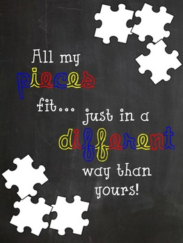 All My Pieces - Autism Advocate Poster