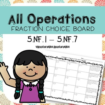 All Operations Fraction Choice Board