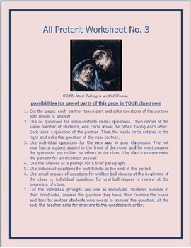 All Preterit Worksheet #3