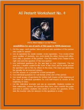 All Preterit Worksheet #4