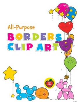 All-Purpose Borders Clip Art: 26 Black & White Images for