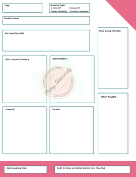 All Purpose Meeting Form