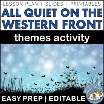 All Quiet on the Western Front Themes Textual Analysis Activity