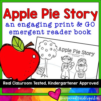 """All Ready to Read!  """"Apple Pie Story"""" Emergent Reader Book"""