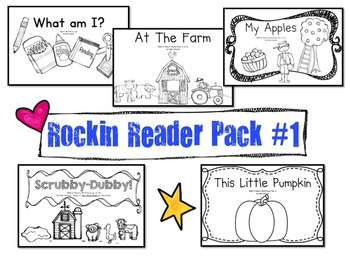 Sight words & more!  Rockin Reader Pack #1!  5 Awesome Eme