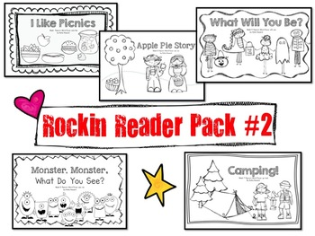 Sight words & more!  Rockin Reader Pack #2!  5 Awesome Eme