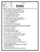 All Similes Worksheets Similes Practice Language Arts Simi
