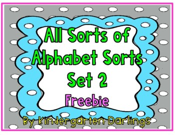 All Sorts of Alphabet Sorts: Open Court Letter Sequence Freebie