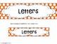 Sorts: Letter, Number, or Symbol- Alphabet, Numerals, or O
