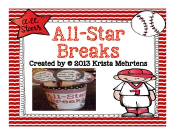All-Star Breaks-  Baseball Themed Activities to get your s