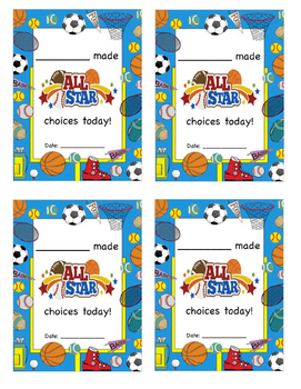 All Star Choice Notes