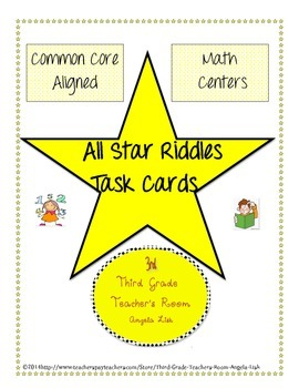All-Star Place Value Riddle Task Cards