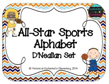 All-Star Sports Alphabet Cards: D'Nealian Set