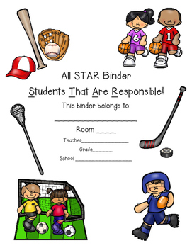 All Star Sports Binder Cover