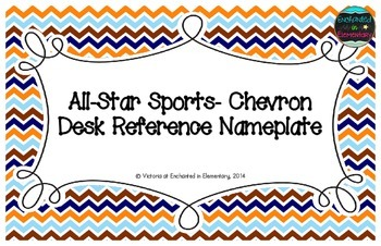 All-Star Sports Chevron Desk Reference Nameplates
