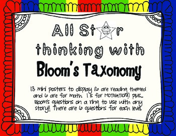 All Star Thinking with Bloom's Taxonomy!
