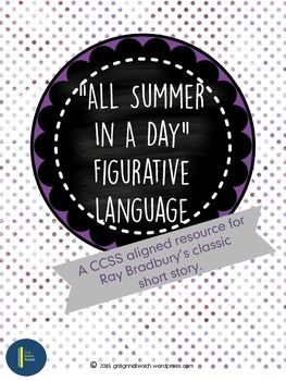 All Summer In A Day: Figurative Language (Literary Analysis)