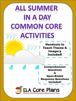 All Summer in a Day ~ Common Core Teaching Unit