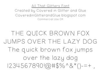 All That Glitters Free Font