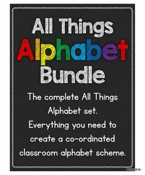 All Things Alphabet BUNDLE: The Complete Alphabet Set Plus