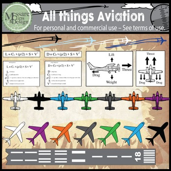 All Things Aviation Clip Art Set {Messare Clips and Design}