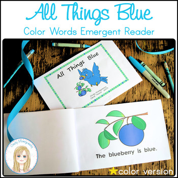 All Things Blue Color Words Emergent Reader (color version)