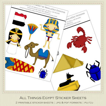 All Things Egypt Printable Graphics Sheets