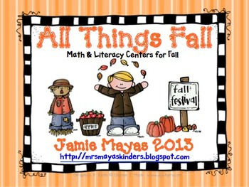 All Things Fall {Math & Literacy Centers for Fall}
