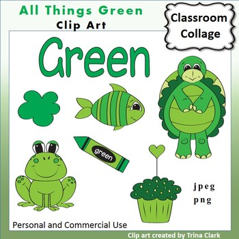 Green Things Clip Art  Color  personal & commercial use