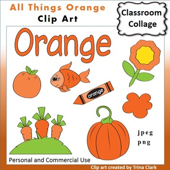 Orange Things Clip Art  Color  personal & commercial use
