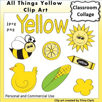 Yellow Things Clip Art  Color  personal & commercial use