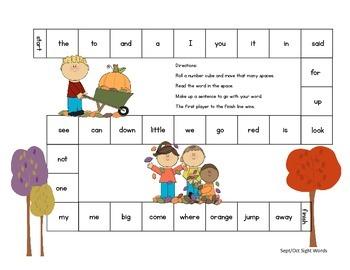 All Through the Year Kindergarten Sight Words Game Bundle