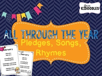 All Through the Year {Pledges, Songs, Poems}