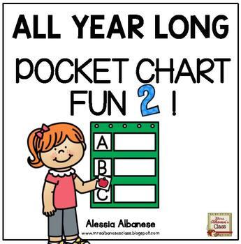 All Year Long Pocket Chart Fun 2