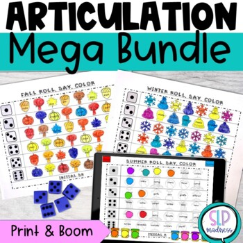 All Year Round NO PREP Articulation Roll Say Color Sound P