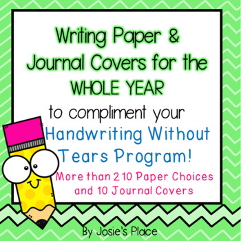 Writing Paper and Journal Covers for Handwriting Without T