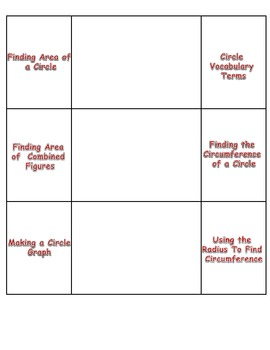 All about Circles Foldable
