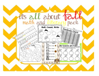 All about Fall, Math and Literacy Activities for the Prima