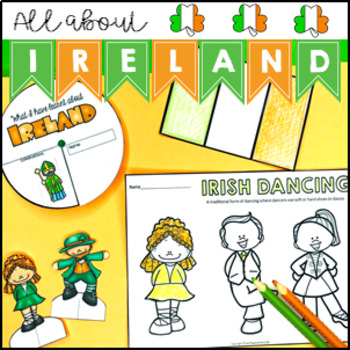 All About Ireland Activity Pack - maps, spinner, flip book and activities