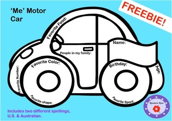 All about ME motor car! FREEBIE